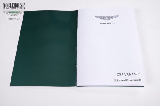 DB7 Handbook Insert Card French / New Old Stock