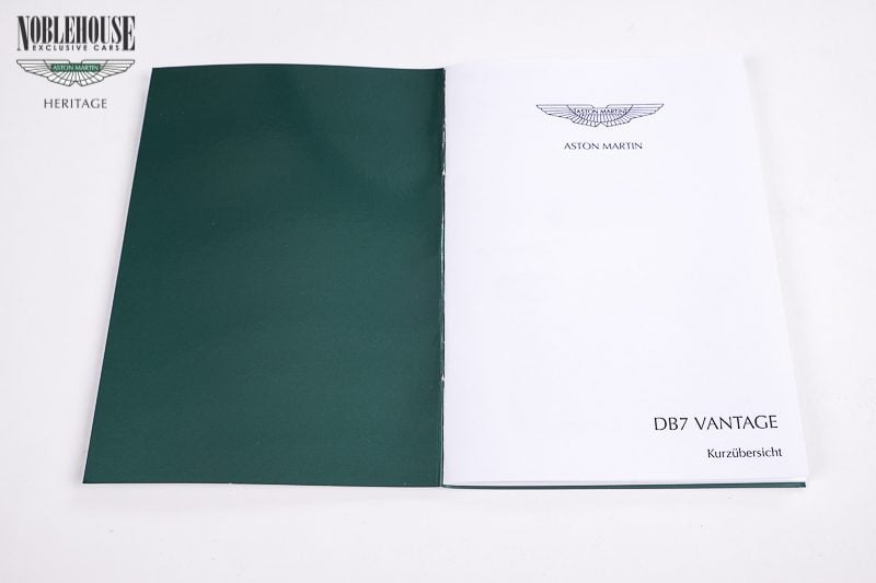 DB7 Handbook Insert Card German / New Old Stock