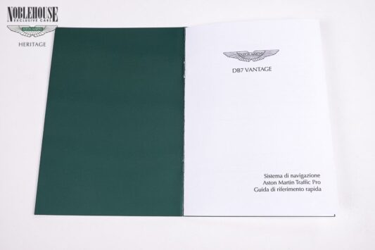 DB7 Satelite Navigation Guide Italian / New Old Stock
